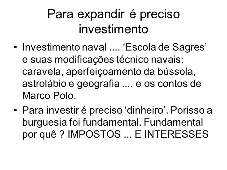 Para expandir é preciso investimento