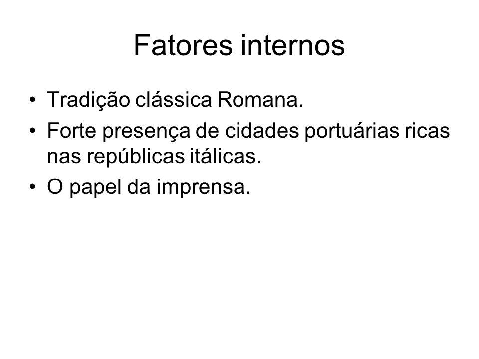 Fatores internos Tradição clássica Romana.