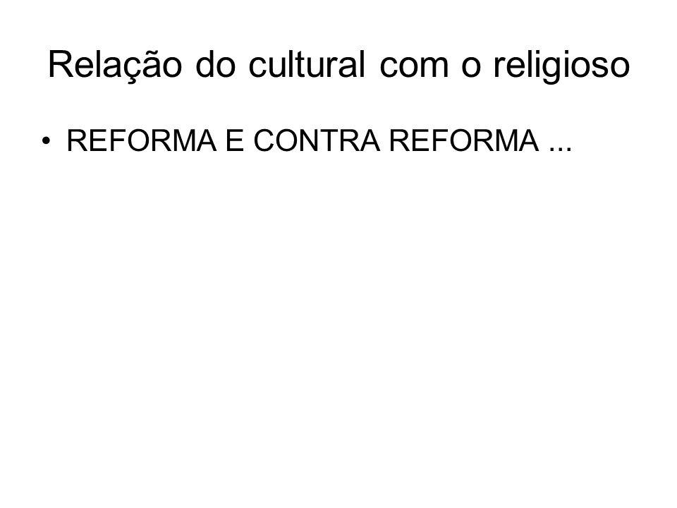 Relação do cultural com o religioso