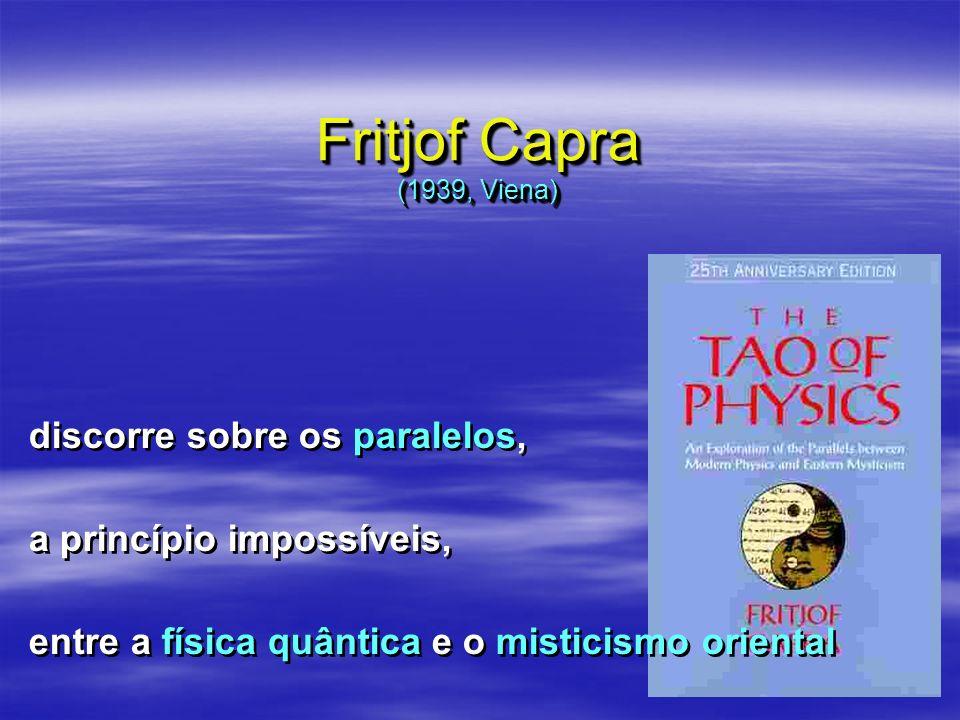 Fritjof Capra (1939, Viena) discorre sobre os paralelos,