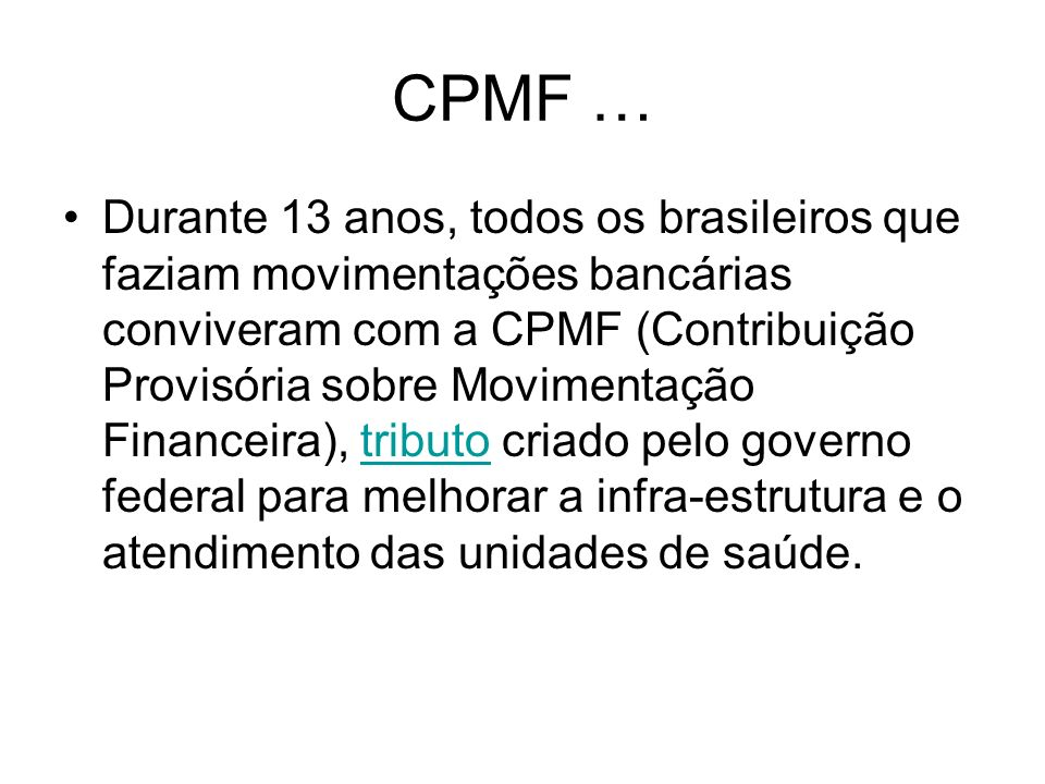 CPMF …