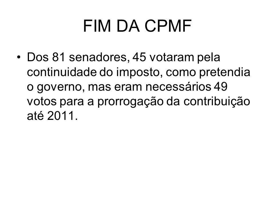 FIM DA CPMF