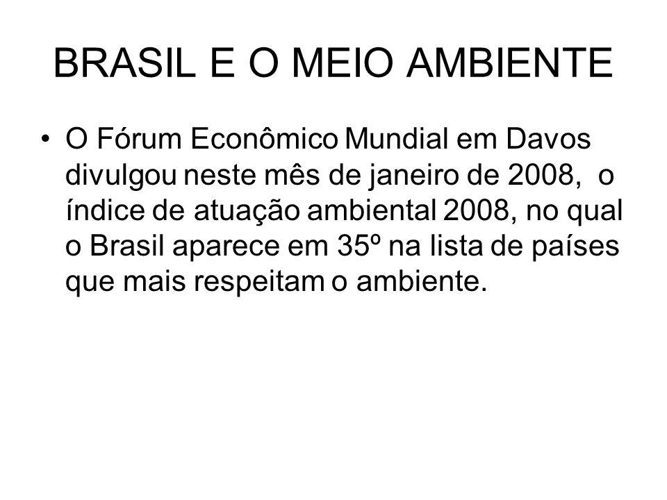 BRASIL E O MEIO AMBIENTE