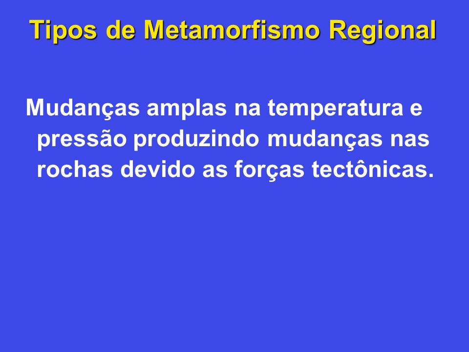Tipos de Metamorfismo Regional