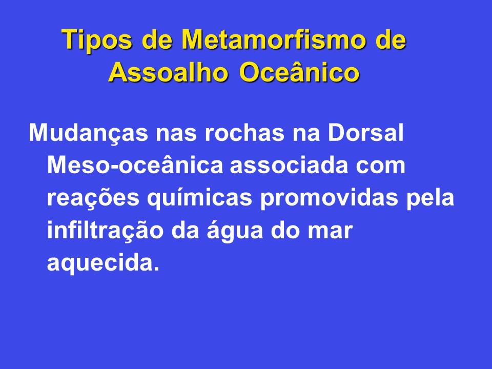 Tipos de Metamorfismo de Assoalho Oceânico
