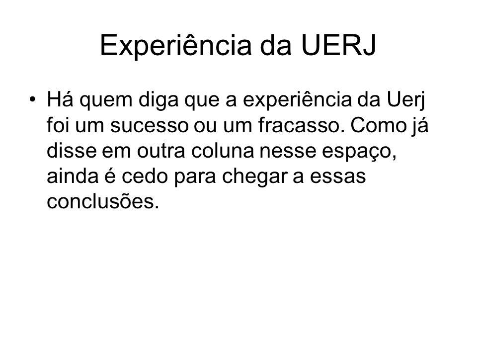 Experiência da UERJ