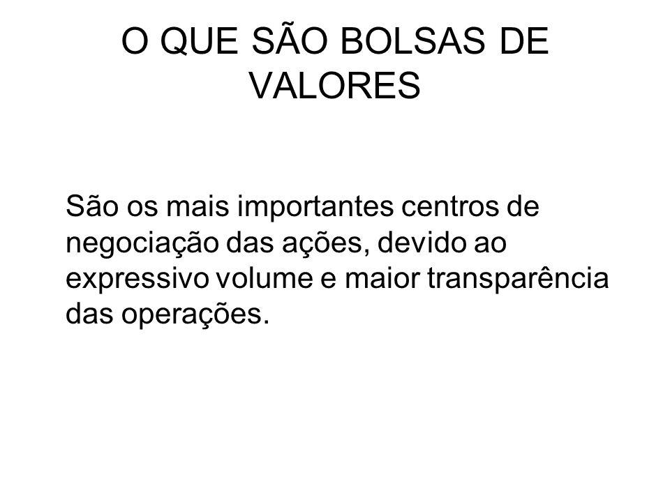 O QUE SÃO BOLSAS DE VALORES