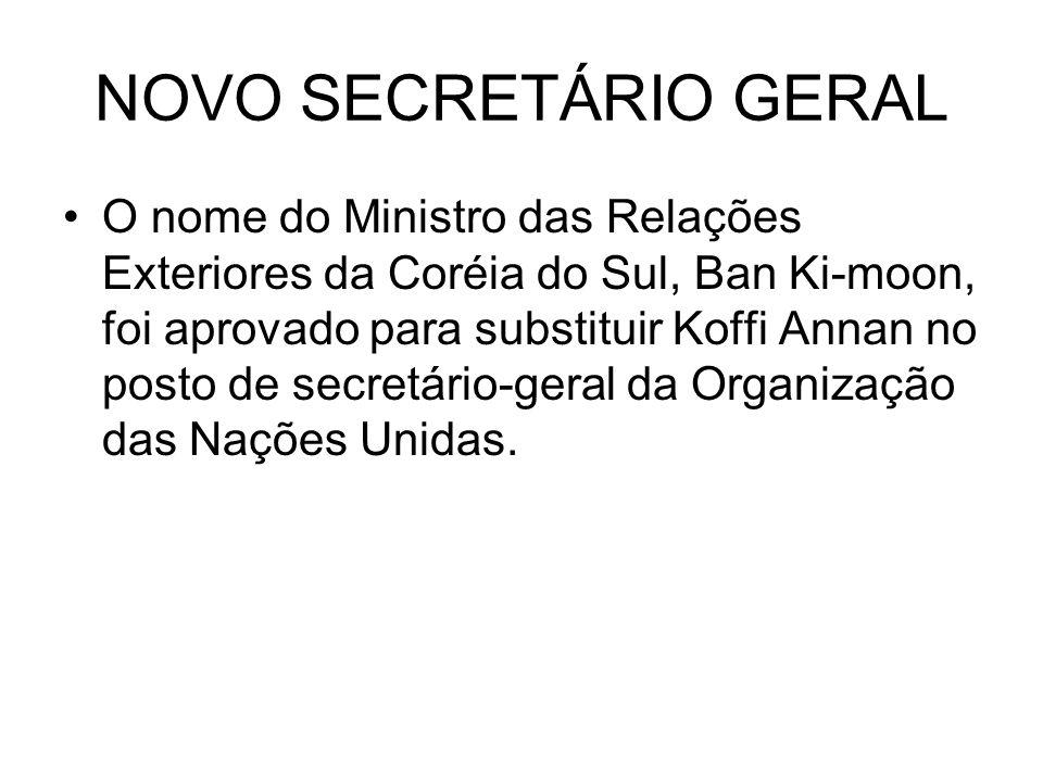 NOVO SECRETÁRIO GERAL