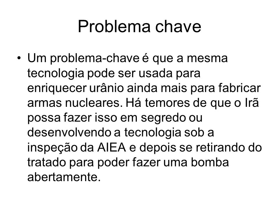 Problema chave
