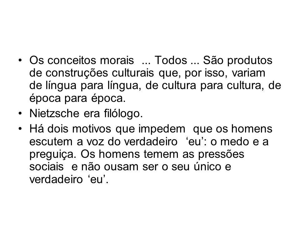 Os conceitos morais. Todos