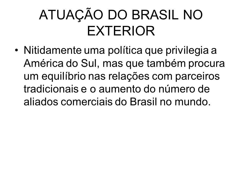 ATUAÇÃO DO BRASIL NO EXTERIOR