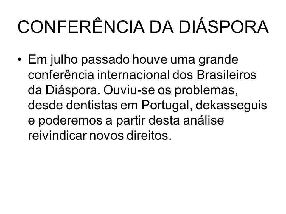 CONFERÊNCIA DA DIÁSPORA