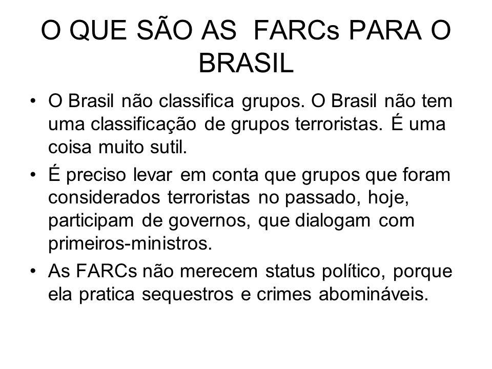 O QUE SÃO AS FARCs PARA O BRASIL