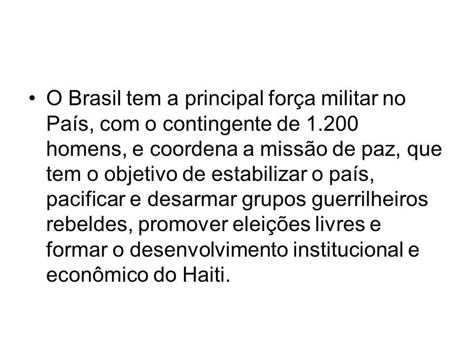 O Brasil tem a principal força militar no País, com o contingente de 1