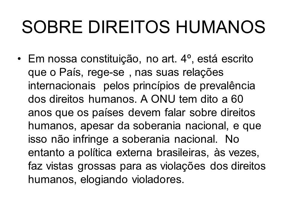 SOBRE DIREITOS HUMANOS