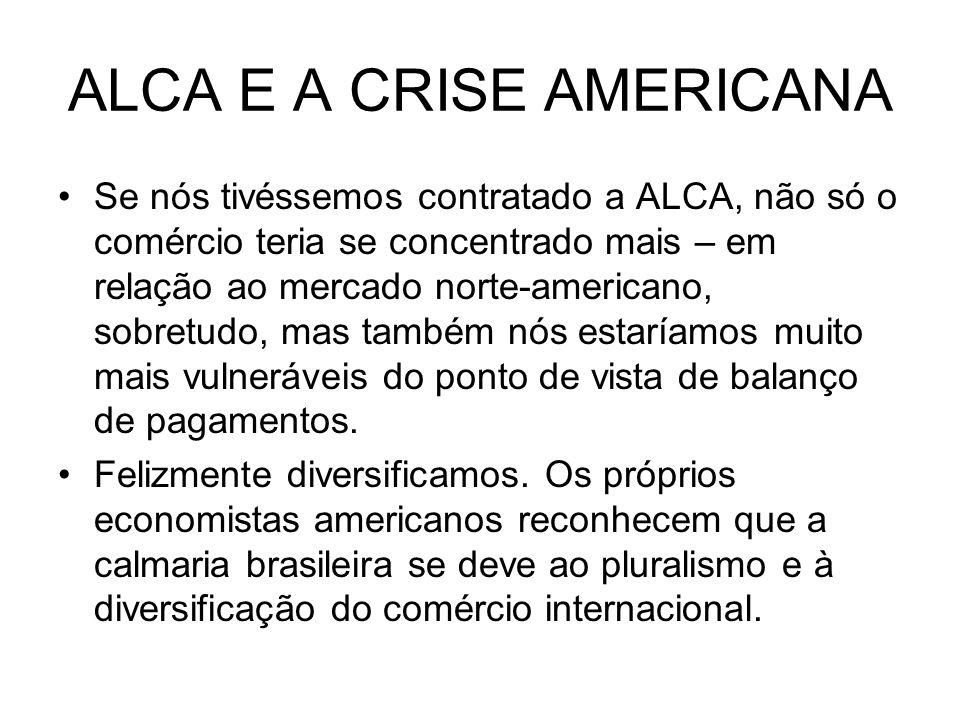 ALCA E A CRISE AMERICANA