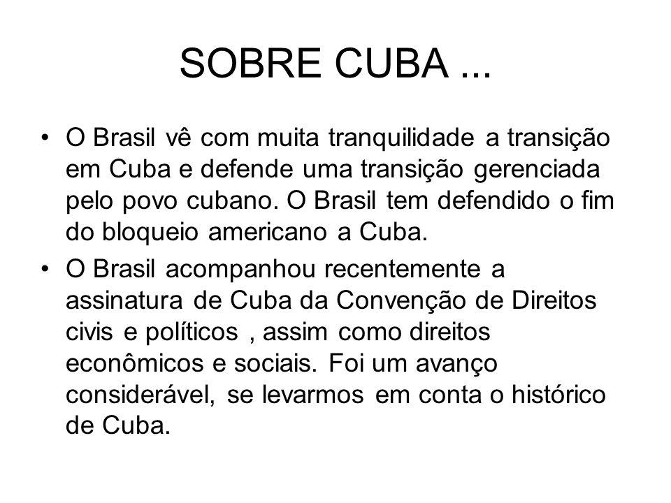 SOBRE CUBA ...