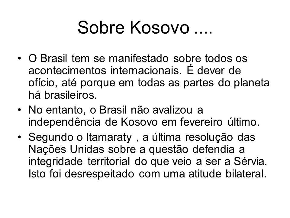 Sobre Kosovo ....