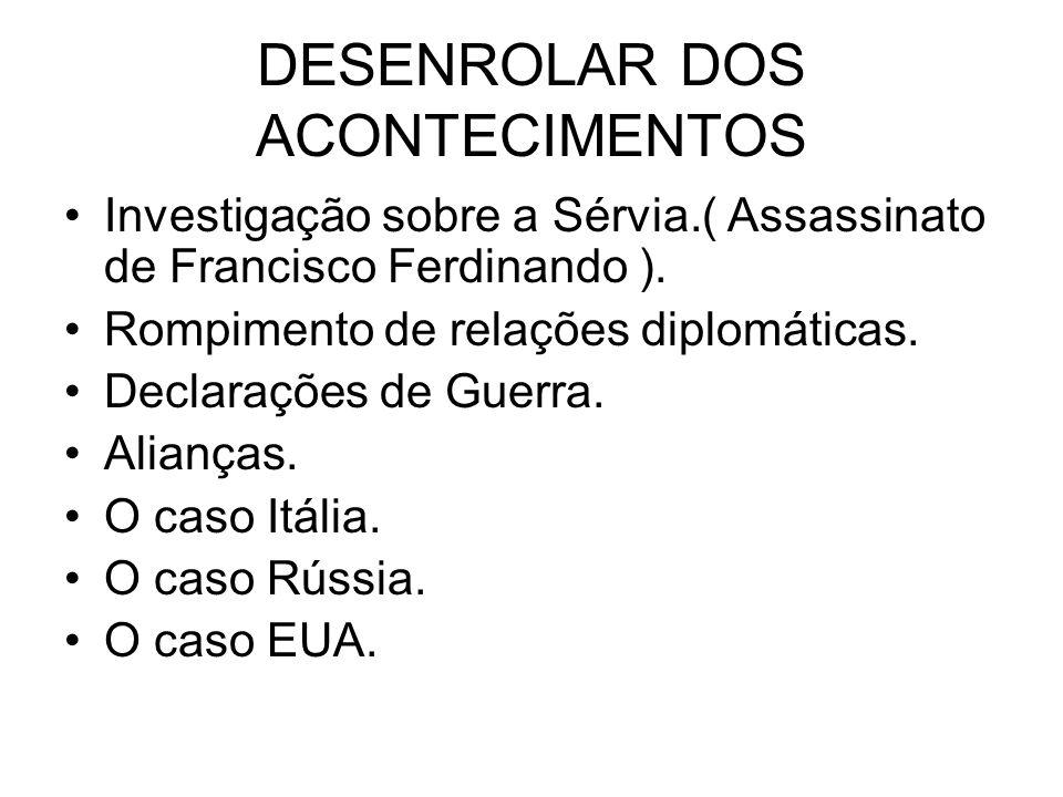 DESENROLAR DOS ACONTECIMENTOS
