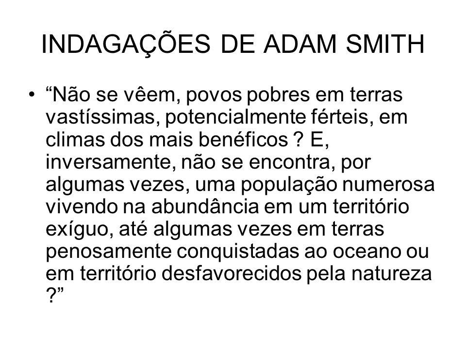 INDAGAÇÕES DE ADAM SMITH
