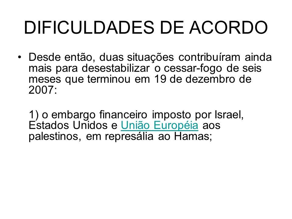 DIFICULDADES DE ACORDO