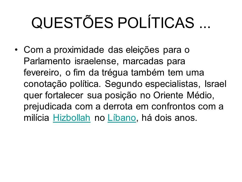 QUESTÕES POLÍTICAS ...