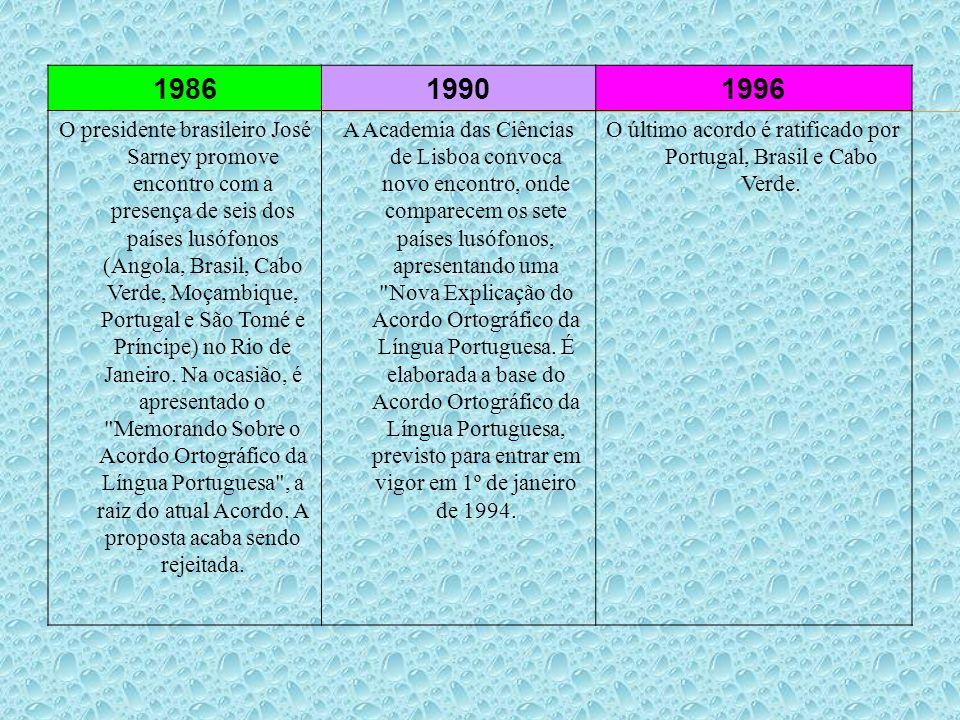 O último acordo é ratificado por Portugal, Brasil e Cabo Verde.