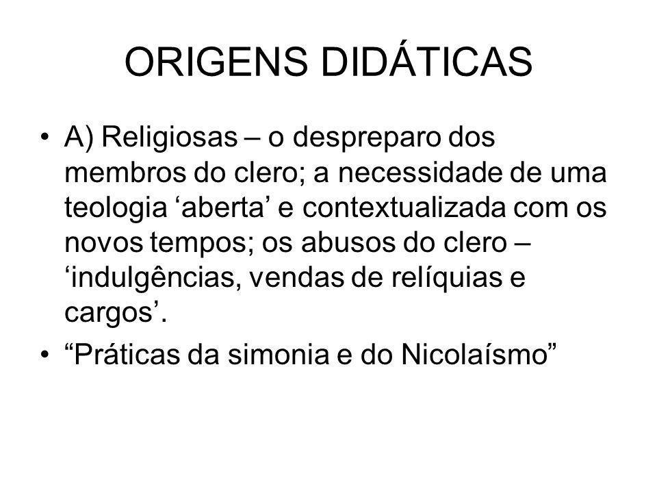 ORIGENS DIDÁTICAS