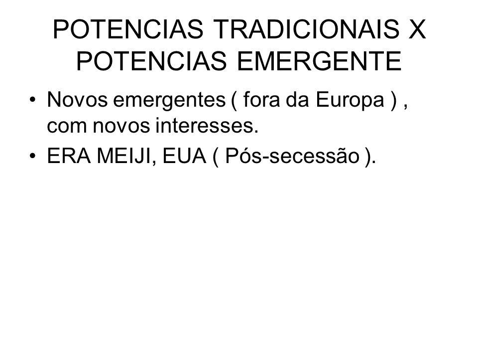 POTENCIAS TRADICIONAIS X POTENCIAS EMERGENTE