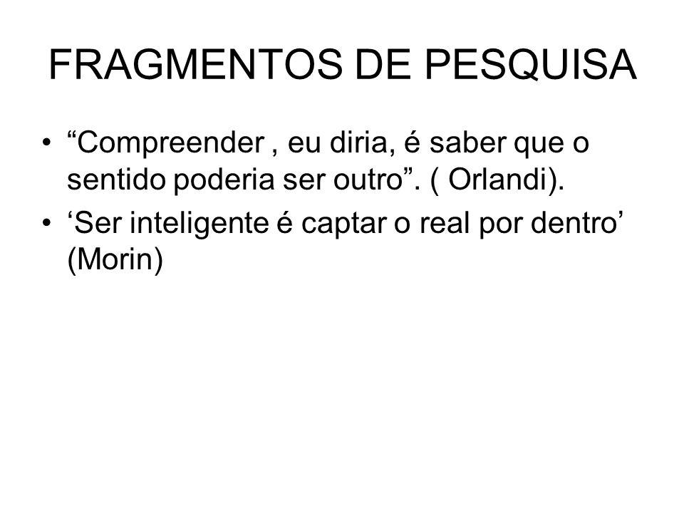 FRAGMENTOS DE PESQUISA