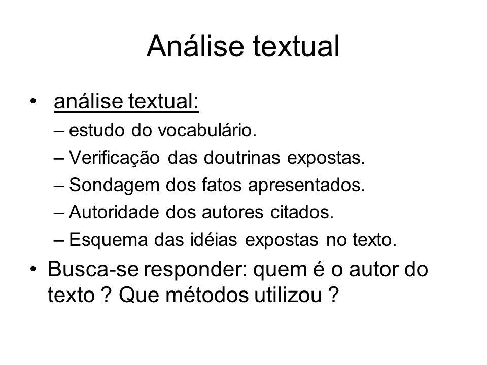 Análise textual análise textual: