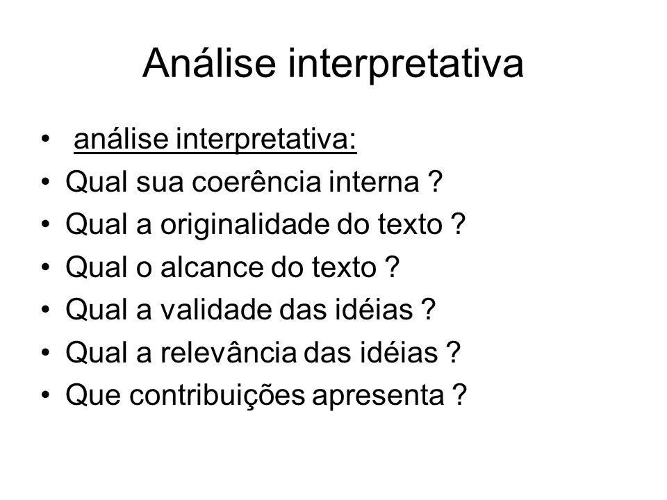 Análise interpretativa