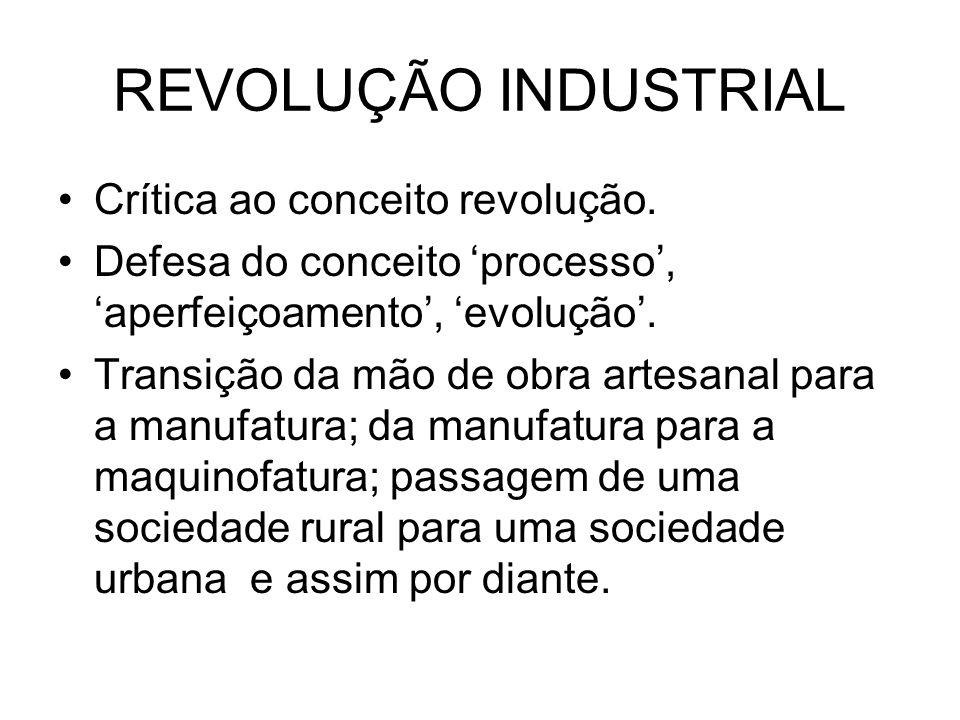 REVOLUÇÃO INDUSTRIAL Crítica ao conceito revolução.