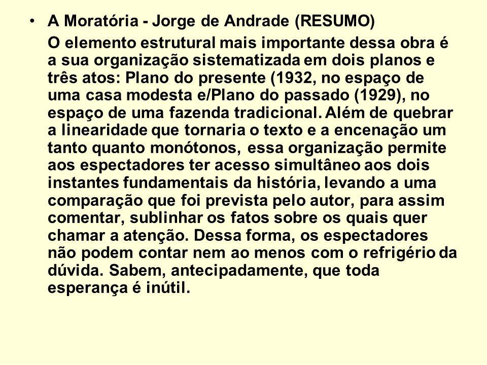 A Moratória - Jorge de Andrade (RESUMO)