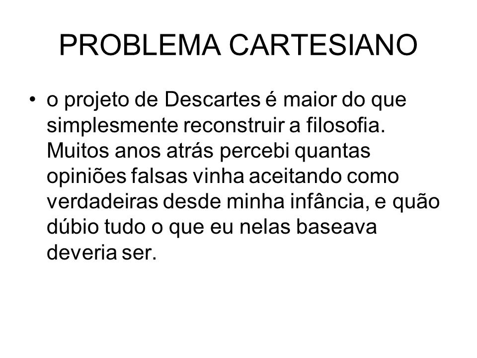 PROBLEMA CARTESIANO