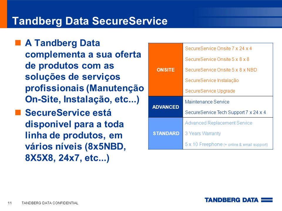 Tandberg Data SecureService