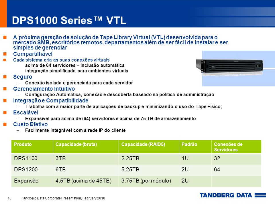 DPS1000 Series™ VTL
