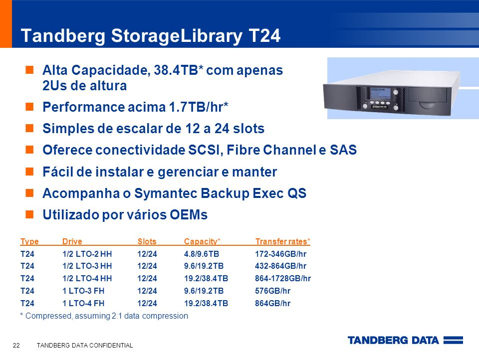 Tandberg StorageLibrary T24