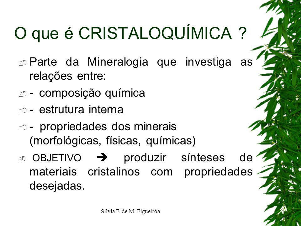 O que é CRISTALOQUÍMICA
