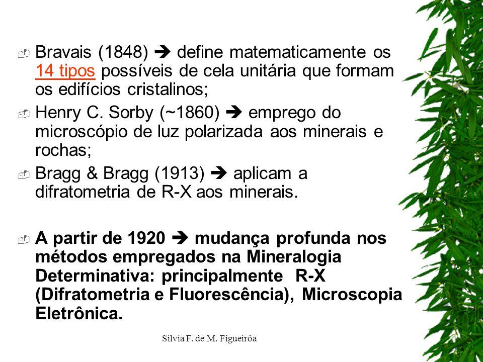 Bragg & Bragg (1913)  aplicam a difratometria de R-X aos minerais.