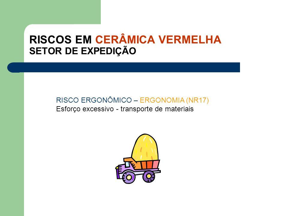 RISCOS EM CERÂMICA VERMELHA SETOR DE EXPEDIÇÃO