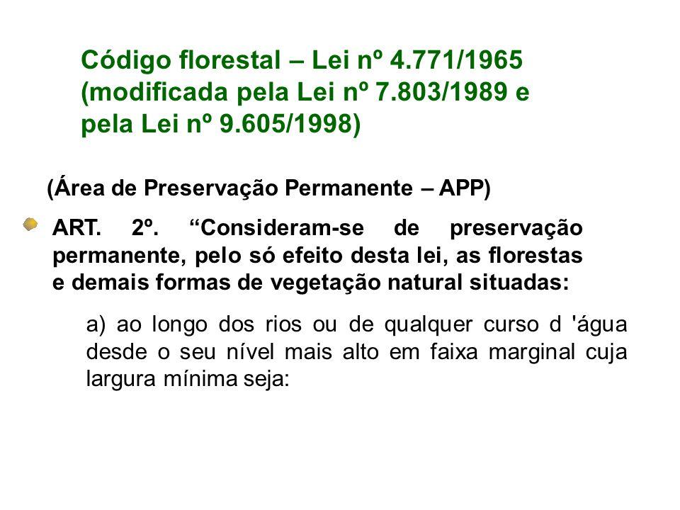 Código florestal – Lei nº 4.771/1965