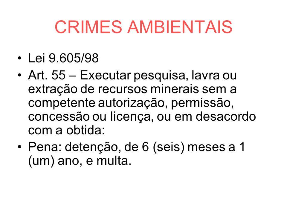 CRIMES AMBIENTAIS Lei 9.605/98
