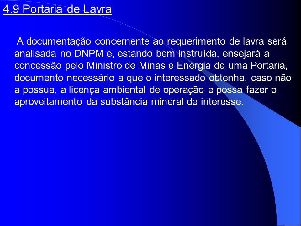 4.9 Portaria de Lavra