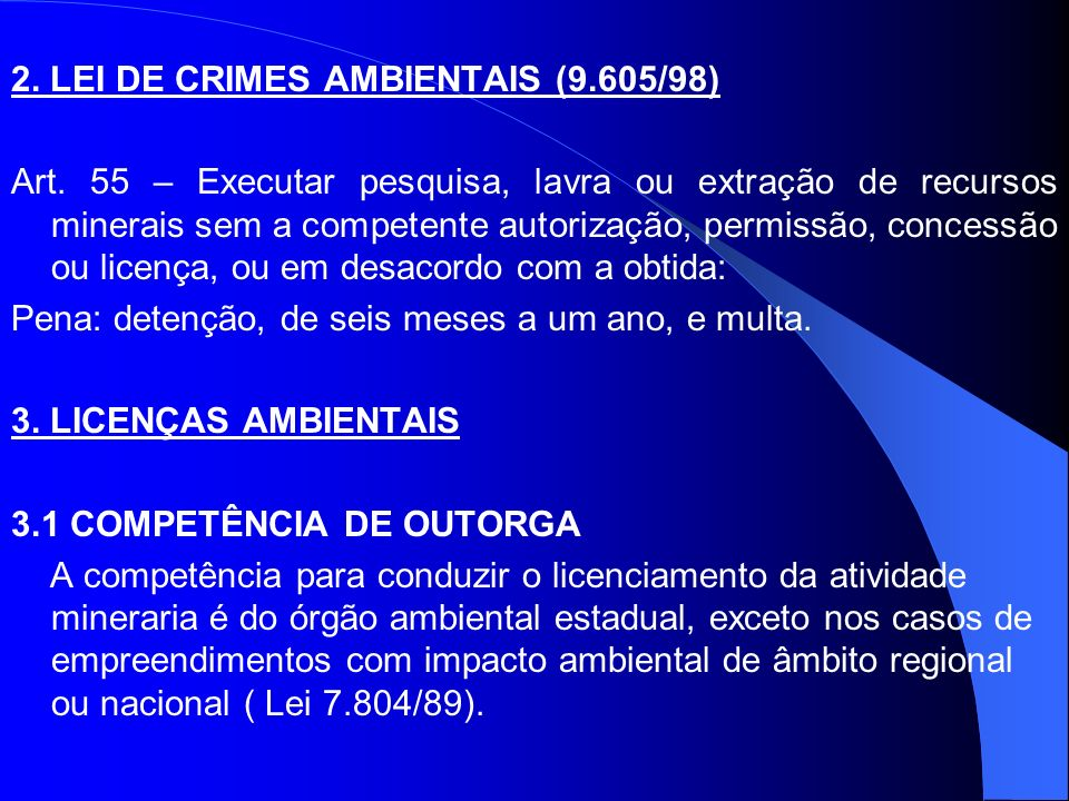 2. LEI DE CRIMES AMBIENTAIS (9.605/98)