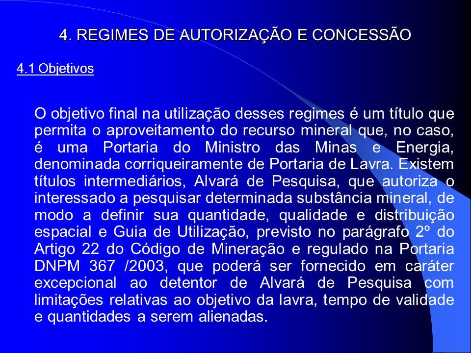 4. REGIMES DE AUTORIZAÇÃO E CONCESSÃO