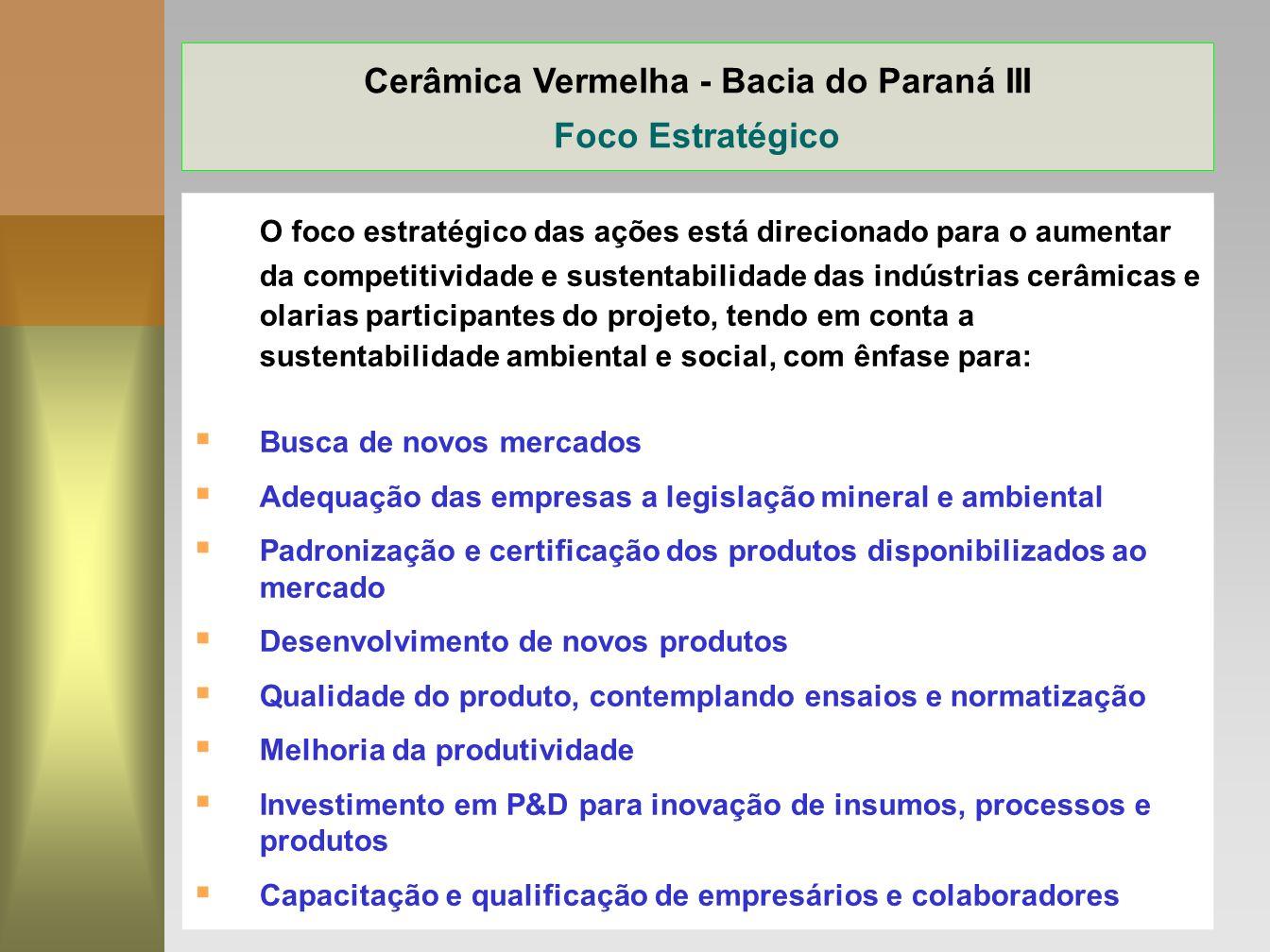 Cerâmica Vermelha - Bacia do Paraná III Foco Estratégico
