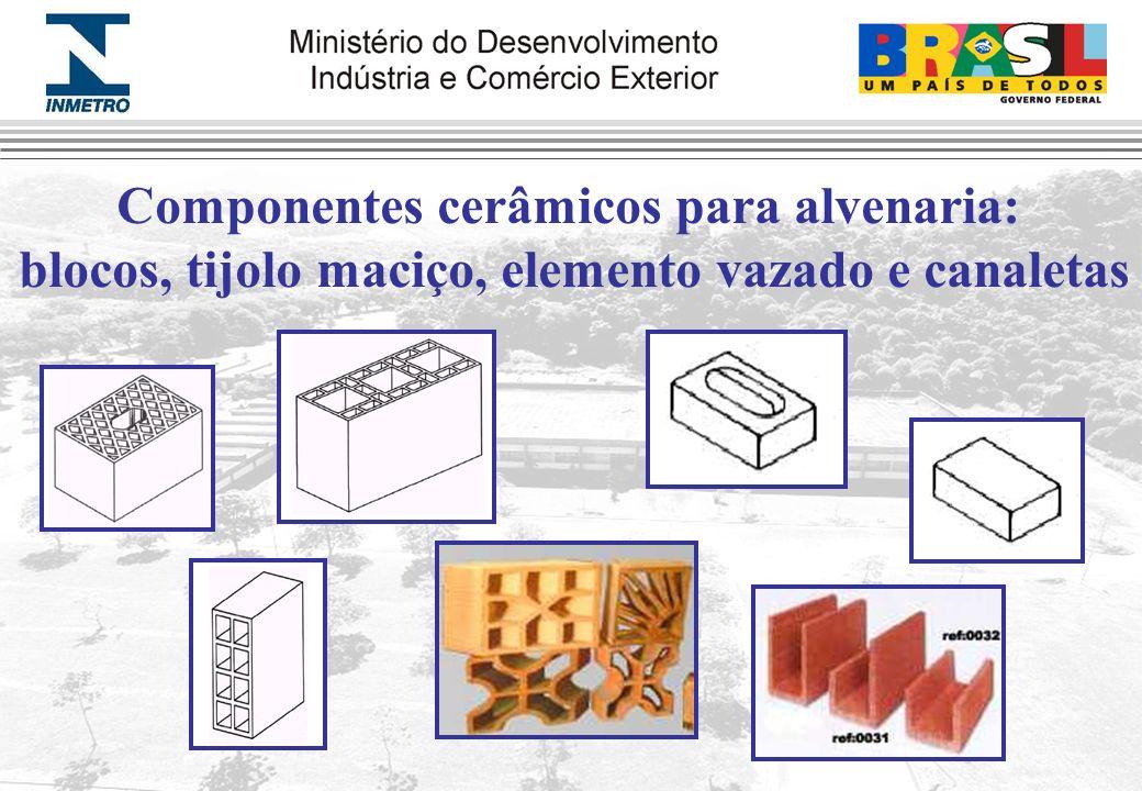 Componentes cerâmicos para alvenaria: