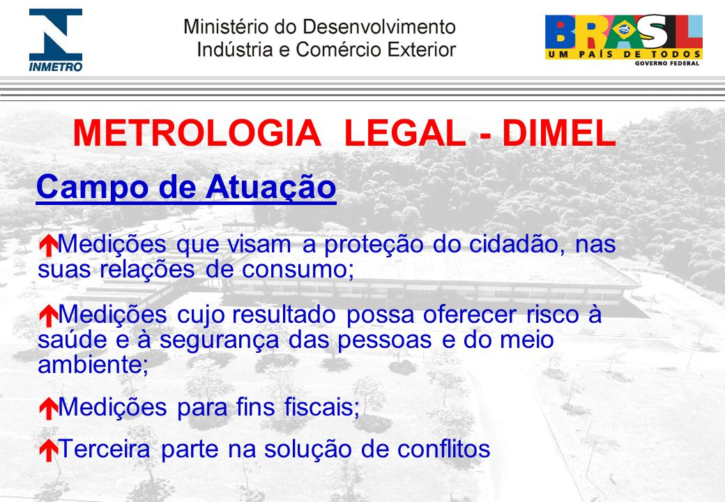 METROLOGIA LEGAL - DIMEL