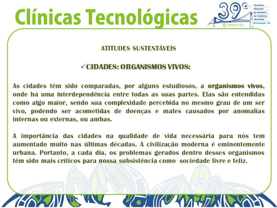 CIDADES: ORGANISMOS VIVOS: